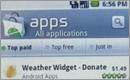 screenshot z nového Android Market