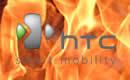 logo HTC in fire