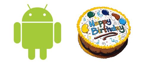 3. narodeniny Androida