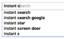 google instant search for mobile