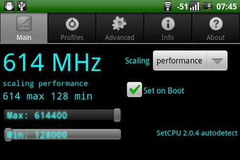 setcpu screenshot