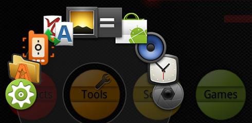 circle launcher aplikacia android