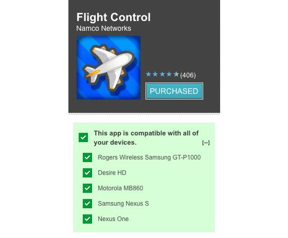 android market kompatibilita aplikacie zariadenie