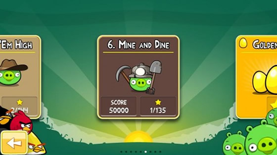 angry birds mine and dine android market
