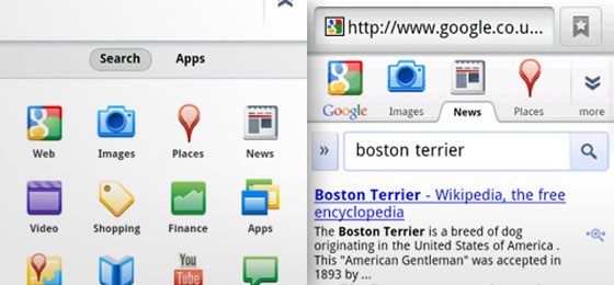 google navigacny panel mobilny android