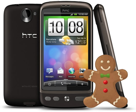 htc desire gingerbread android 2.3 aktualizacia