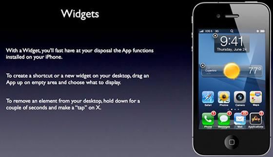 iOS 5 widgety android