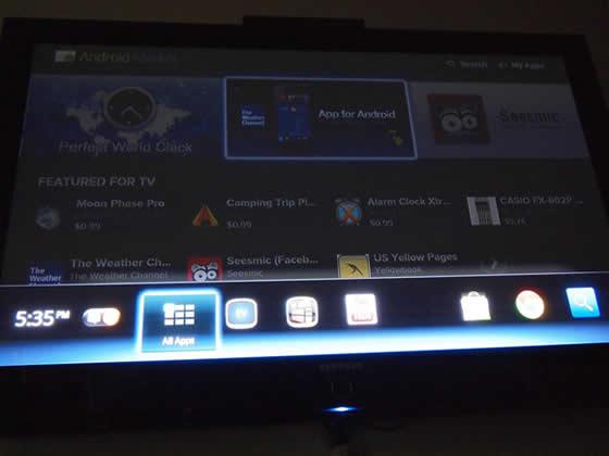 google tv android market honeycomb