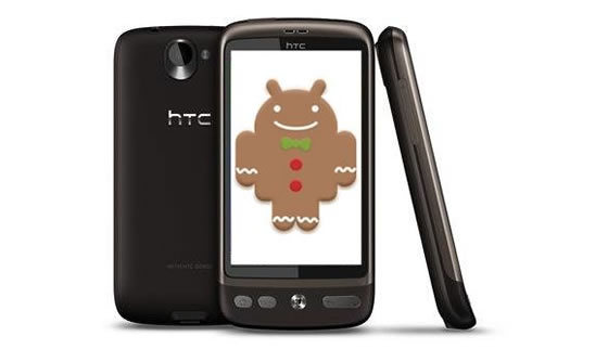 htc desire gingerbread android