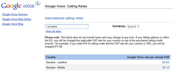 google voice slovensko