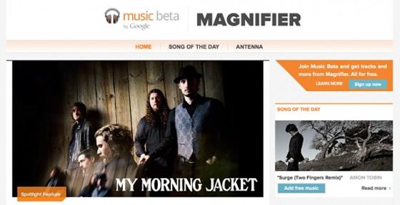 magnifier google music hudba zdarma android