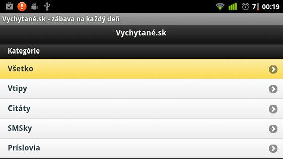 vychytane android