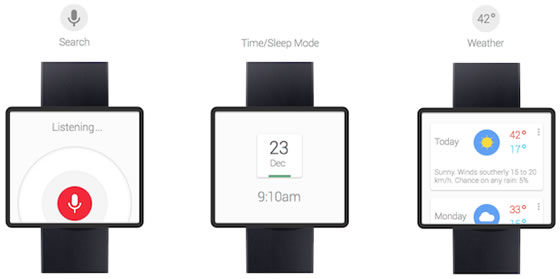 google time hodinky android koncept