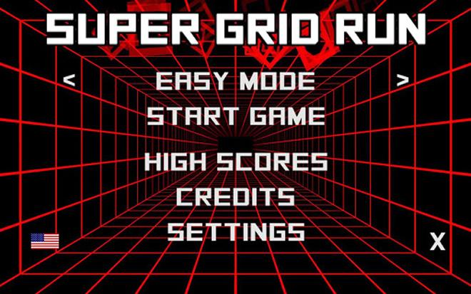 super grid run android retro hra